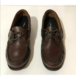 LL BEAN Men's 7M Brown Leather Loafers